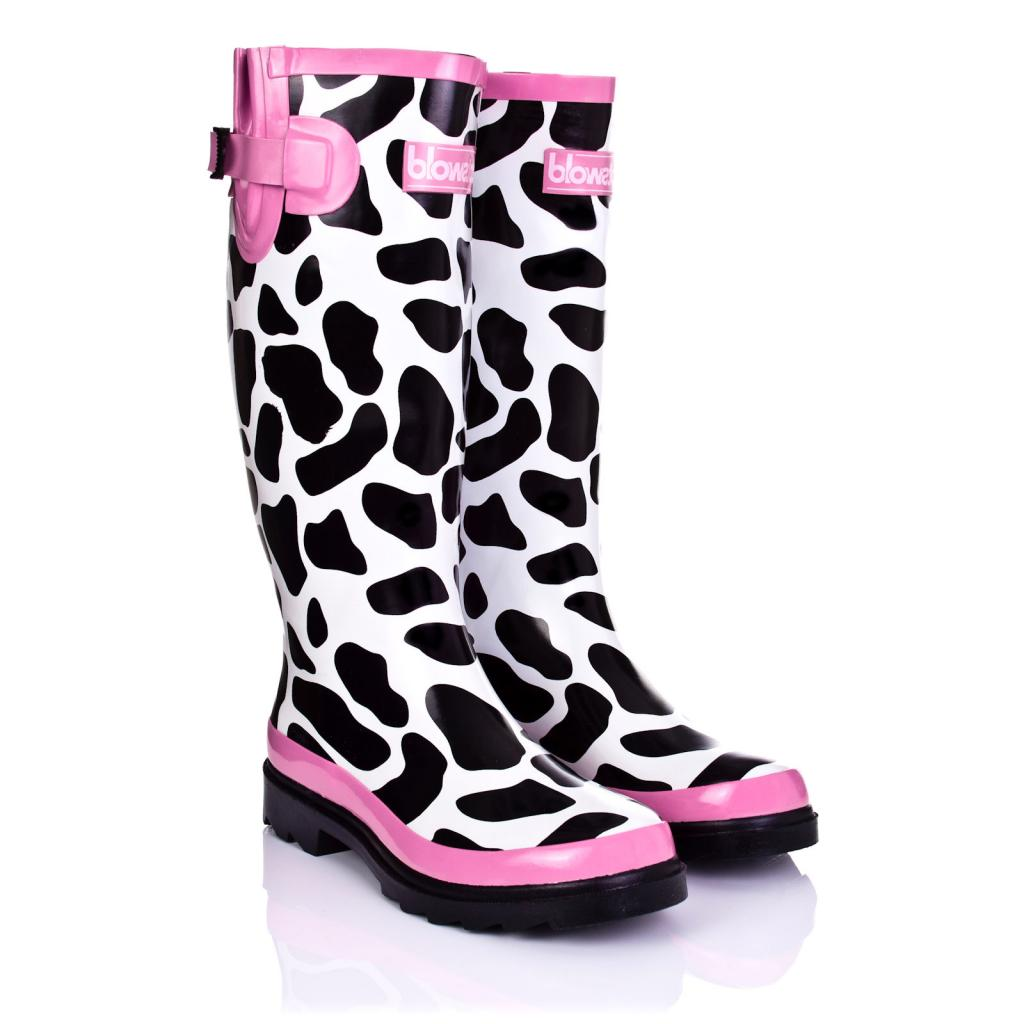NEW WOMENS COTSWOLD FLAT COW FESTIVAL WELLY KNEE HIGH RAIN BOOTS ...