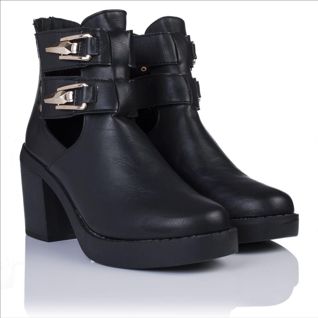 neu damen biker stiefeletten ankle boots schuhe. Black Bedroom Furniture Sets. Home Design Ideas