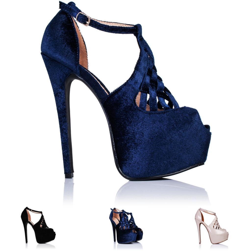 neu damen pumps high heel stiletto absatz plateau schuhe. Black Bedroom Furniture Sets. Home Design Ideas