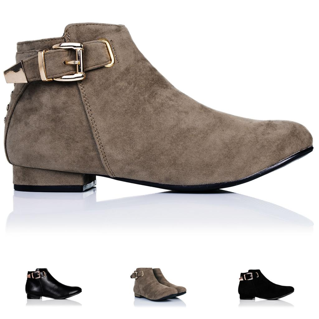 Displaying 19> Images For - Womens Flat Ankle Boots