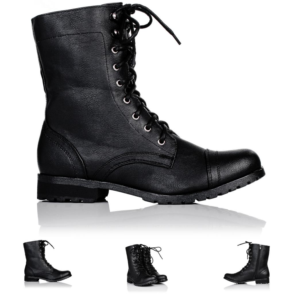 neu damen stiefeletten ankle boots schuhe biker flach. Black Bedroom Furniture Sets. Home Design Ideas