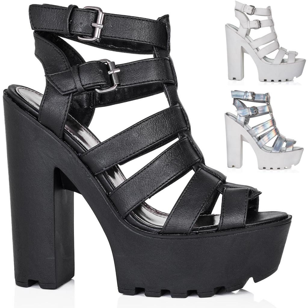 neu damen sandalen schuhe blockabsatz plateau offene spitze gr 36 41 ebay. Black Bedroom Furniture Sets. Home Design Ideas