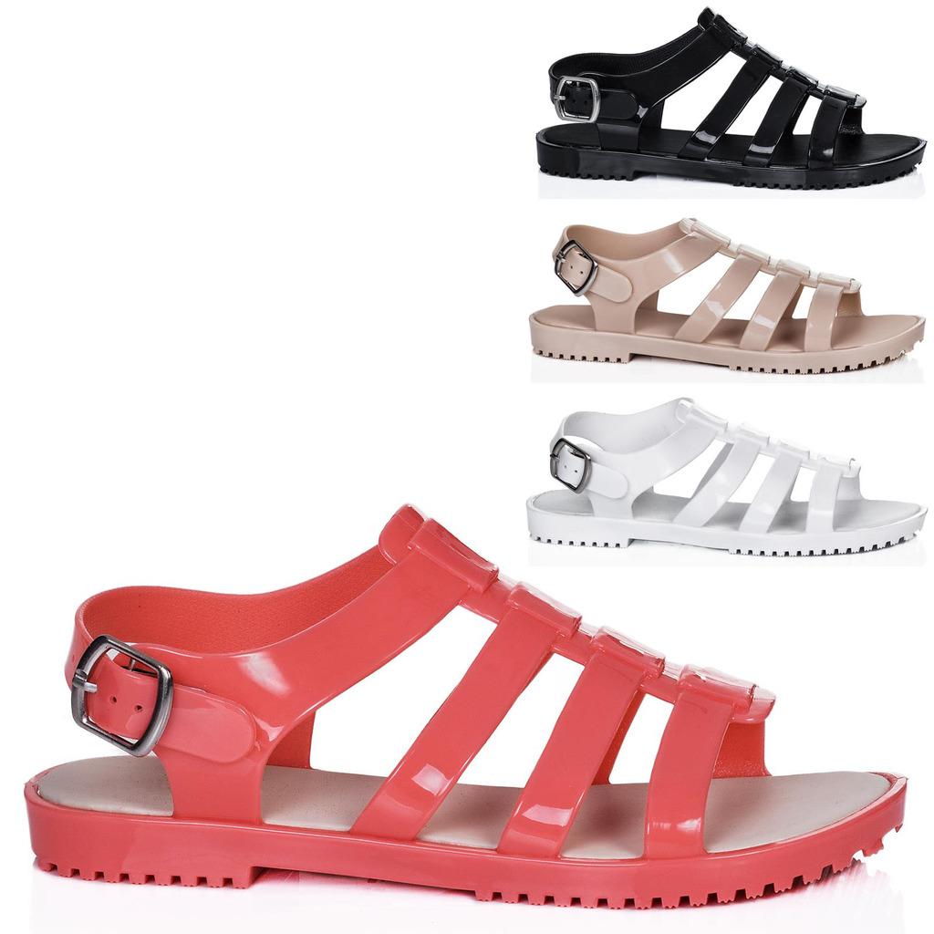 neu damen sandalen schuhe flach offene spitze gr 36 41. Black Bedroom Furniture Sets. Home Design Ideas