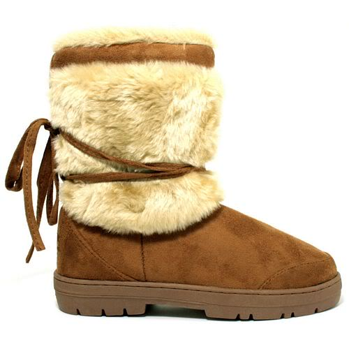 NEW-WATERPROOF-SOLE-FUR-SUEDE-STYLE-ANKLE-SNOW-WINTER-BOOTS-LADIES-WOMENS-SZ-3-8