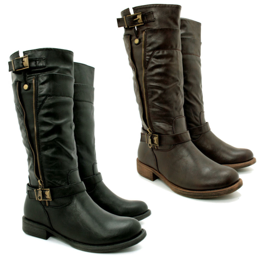 Book Of Leather Biker Boots Womens In Germany By William