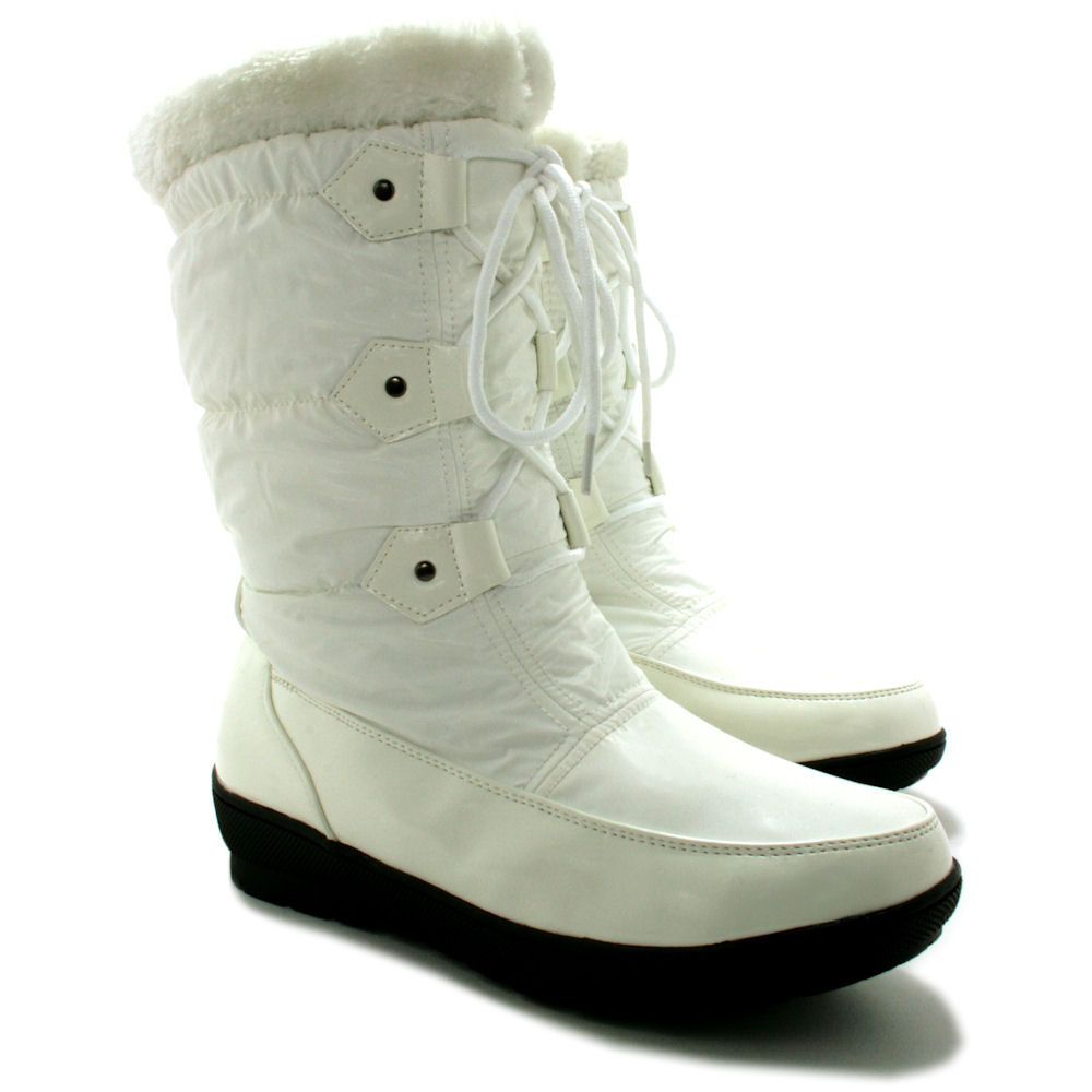 Winter Snow Ski Yeti Fur Moon Jogger Ladies Flat Boots Ebay