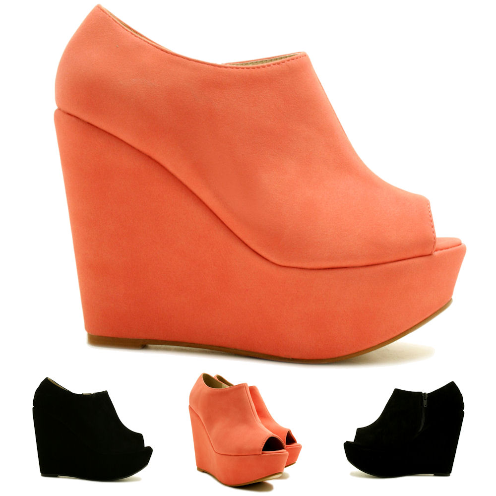 NEW-WOMENS-SUEDE-STYLE-WEDGE-HEEL-PLATFORM-PEEP-TOE-ANKLE-BOOT-SHOES-SIZE