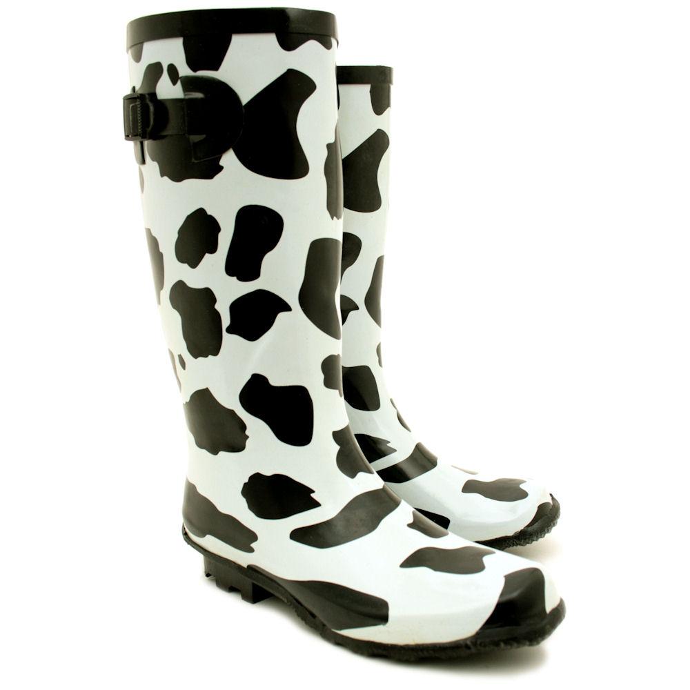 Women;s Flat Wellies Rubber Rain & Snow Boots | Santa Barbara ...