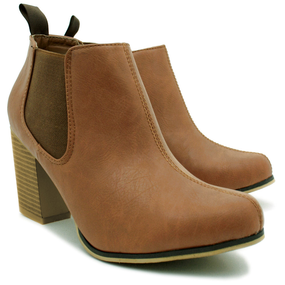 womens tan leather ankle boots