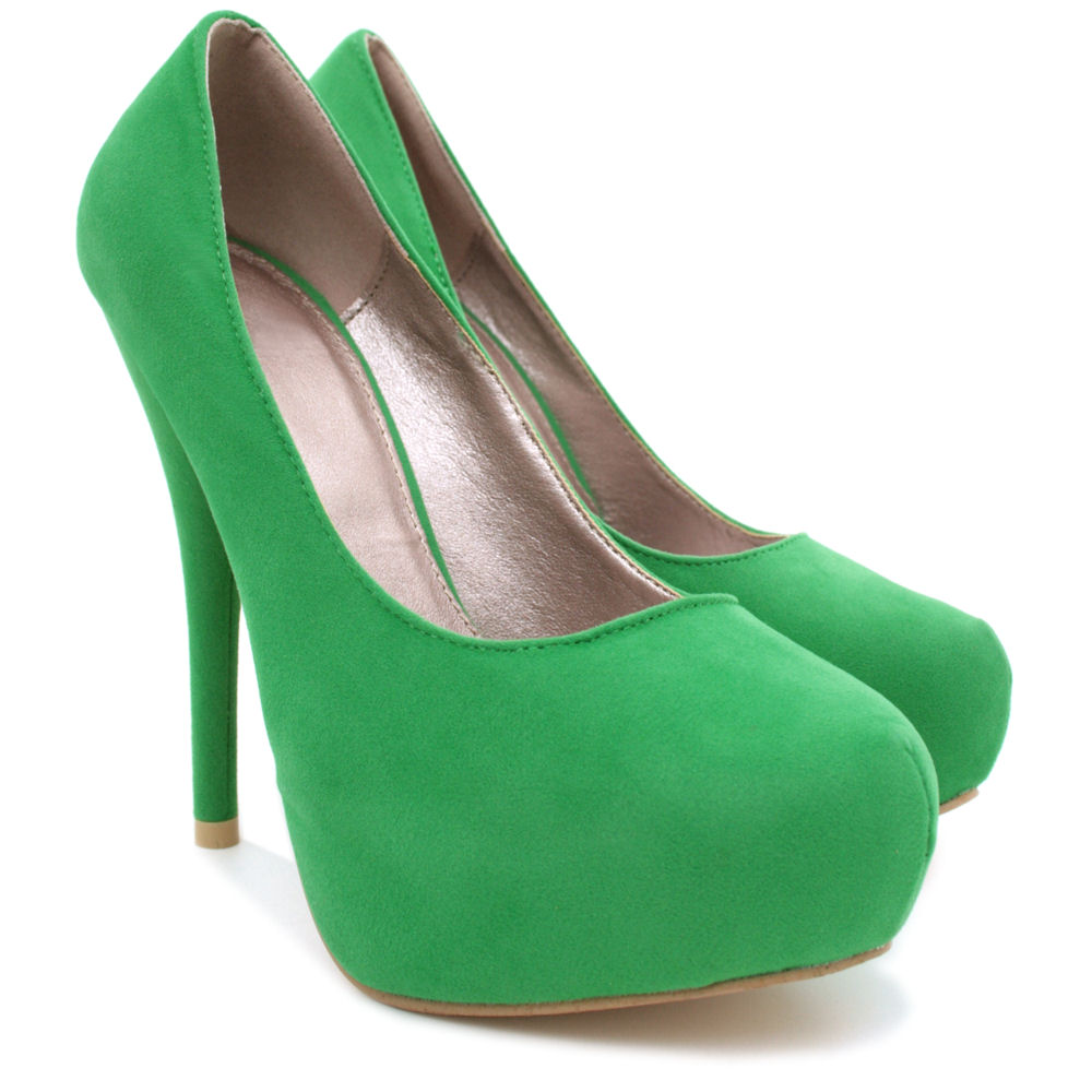 NEW-WOMENS-HIGH-HEEL-PLATFORM-SUEDE-STYLE-PATENT-PARTY-COURT-LADIES-SHOES-SIZE thumbnail 3