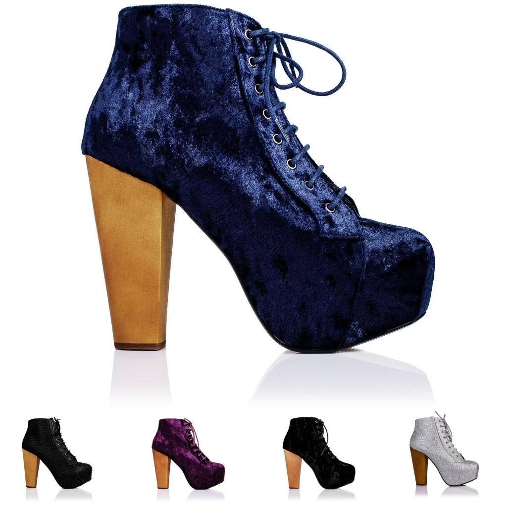 Neu-Damen-Stiefeletten-Ankle-Boots-Schuhe-Blockabsatz-Plateau-Gr-36-41