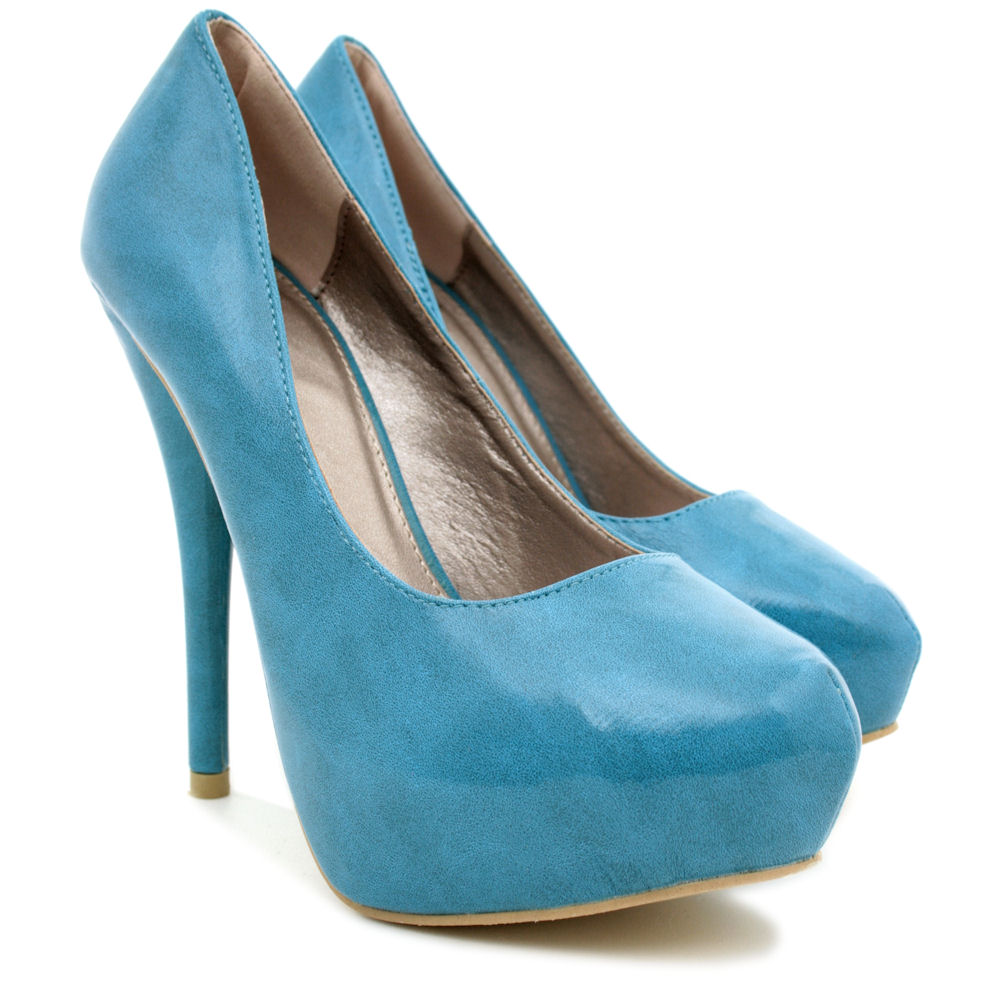 NEW-WOMENS-HIGH-HEEL-PLATFORM-SUEDE-STYLE-PATENT-PARTY-COURT-LADIES-SHOES-SIZE thumbnail 11