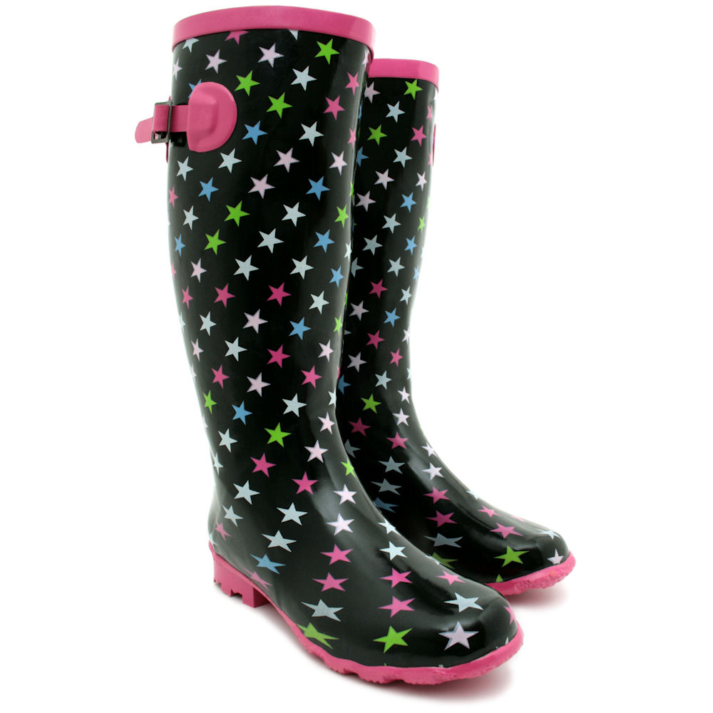 new womens wide calf festival wellies wellington rain. Black Bedroom Furniture Sets. Home Design Ideas