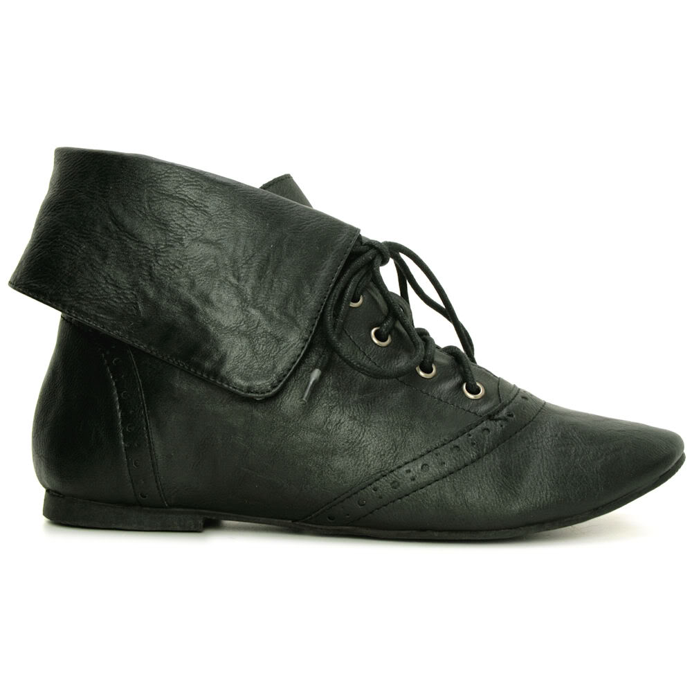 Womens Black Leather Flat Ankle Boots : Beautiful Gray ...