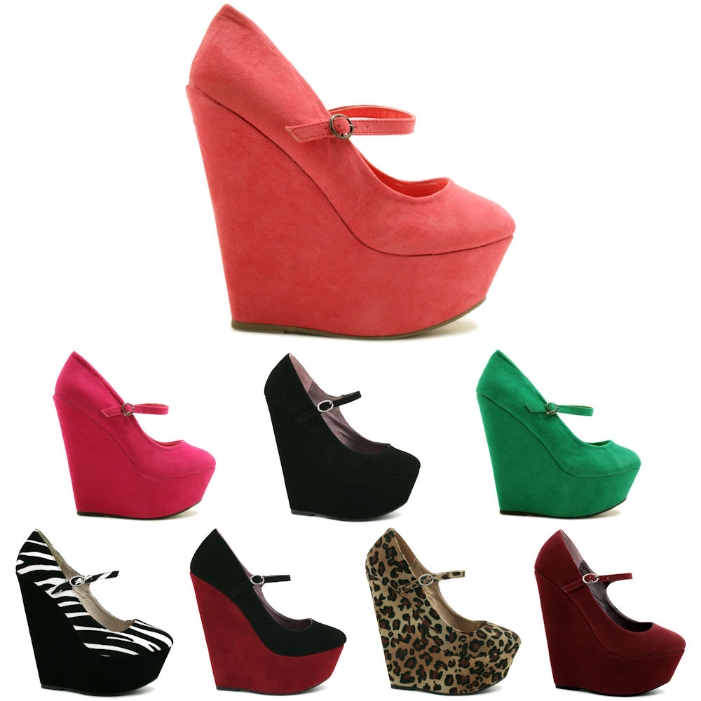 neu damen pumps high heel schuhe keilabsatz wedges gr 36 41 ebay. Black Bedroom Furniture Sets. Home Design Ideas