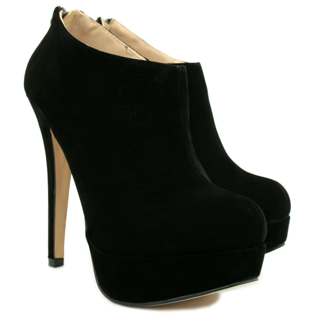 Beautiful Adams Womens Black Suede Low Heel Western Ankle Bootie  85 BM US Wearing Heels Will Help To Accentuate Your Legs And Make Them Look Longer The