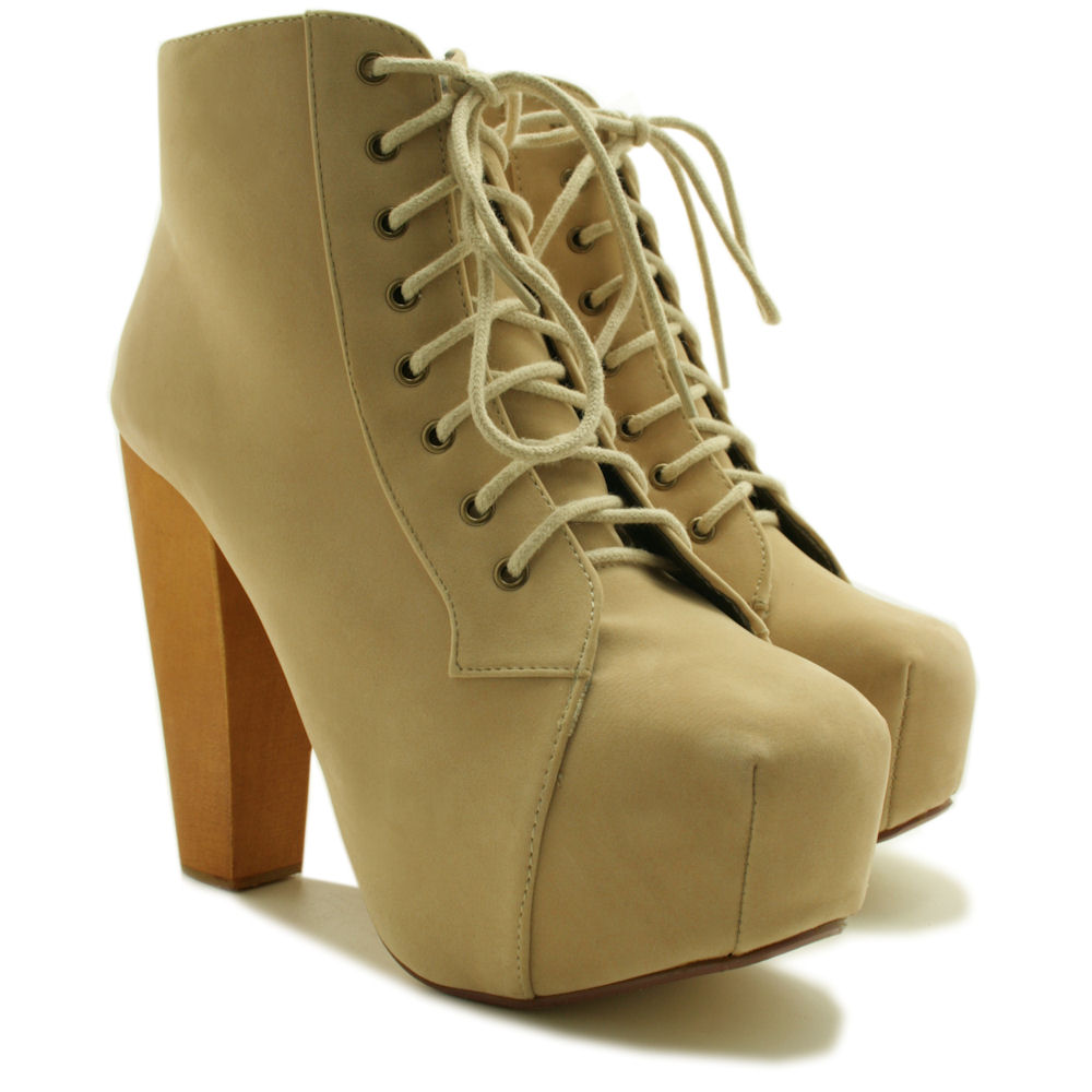 2d4b0f943dd475 Neu Damen Stiefeletten Ankle Boots Schuhe Blockabsatz Plateau Gr 36 41