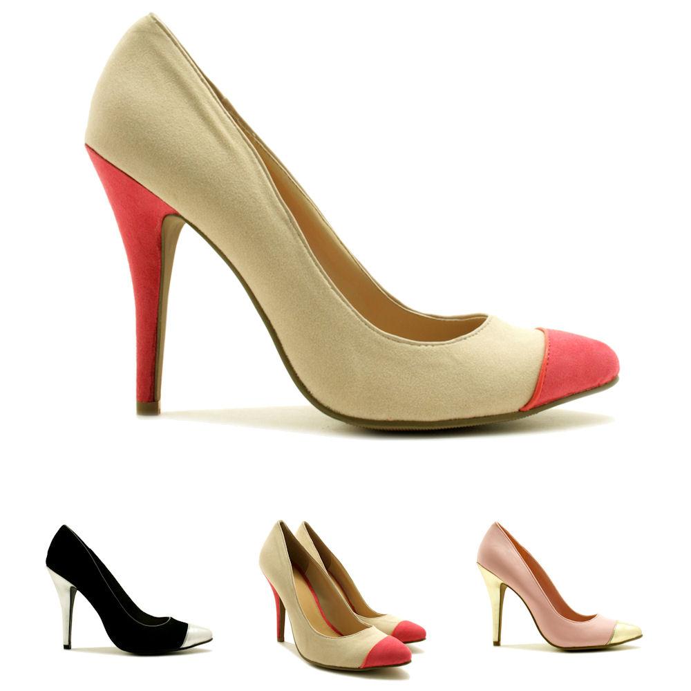 neu damen pumps high heel schuhe stiletto absatz gr 36 41. Black Bedroom Furniture Sets. Home Design Ideas