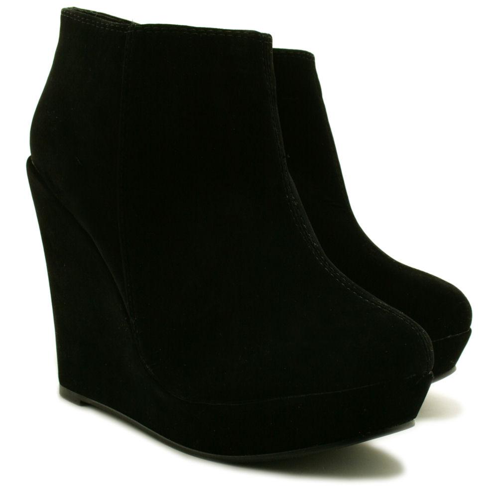 7a7f1402d7c7 Neu Damen Stiefeletten Ankle Boots Schuhe Keilabsatz Plateau Gr 36 ...