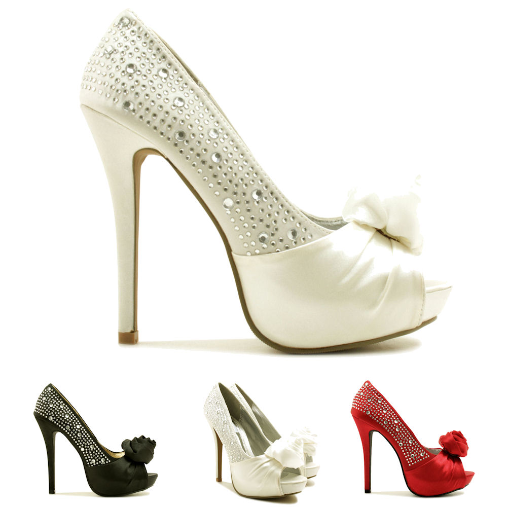 neu damen pumps high heel schuhe stiletto absatz offene spitze plateau gr 36 41 ebay. Black Bedroom Furniture Sets. Home Design Ideas
