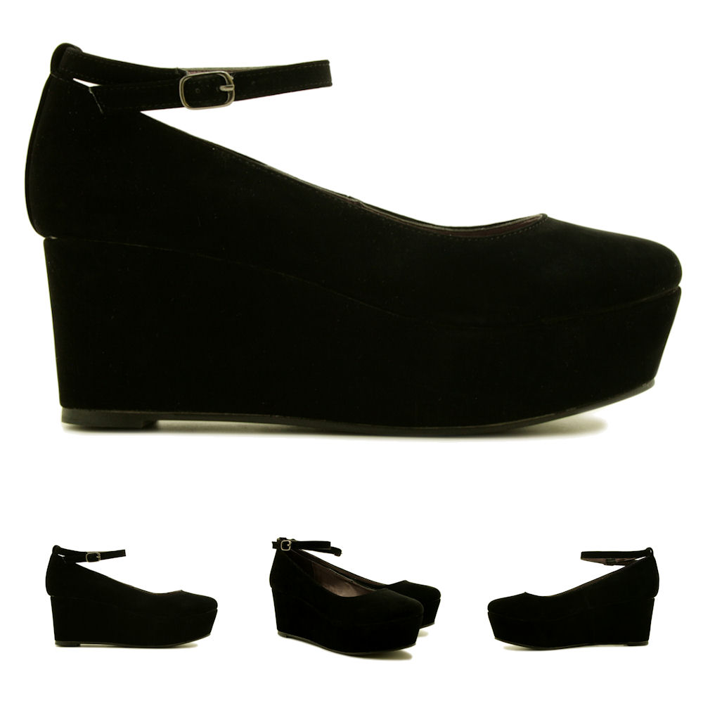 NEW-WOMENS-WEDGE-HEEL-PLATFORM-FLATFORM-SHOES-SIZE