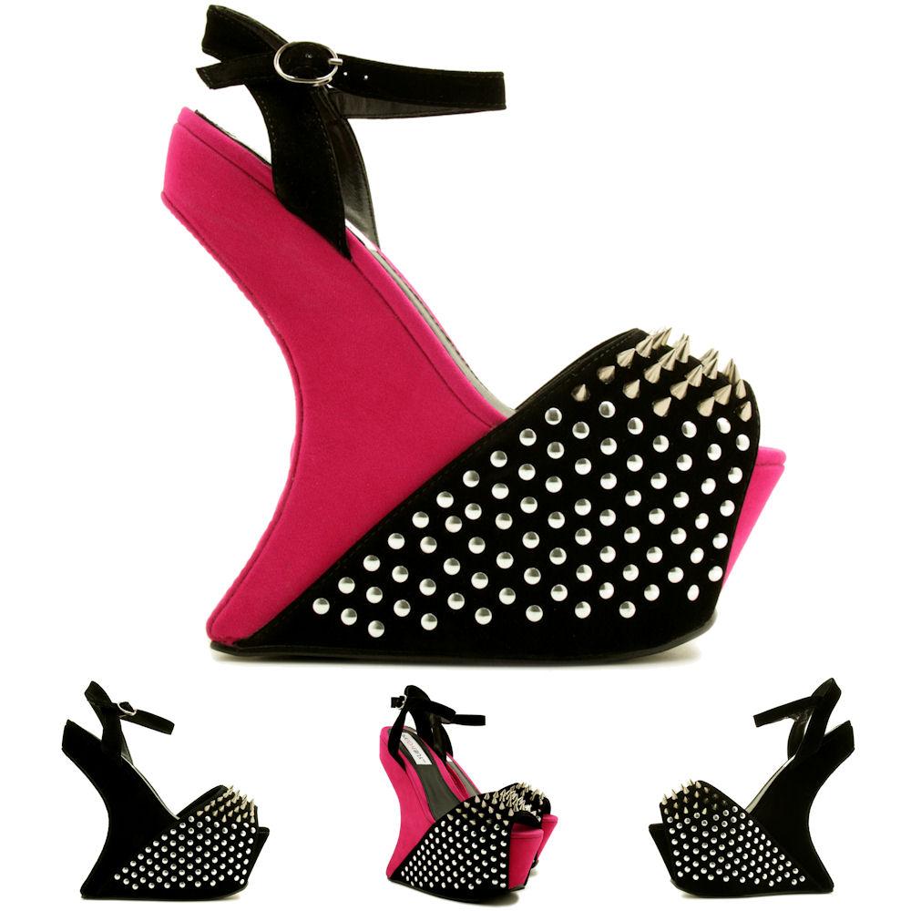 heel less golden diamond spiked wedge boots platform pumps wedding evening party dress shoes , women