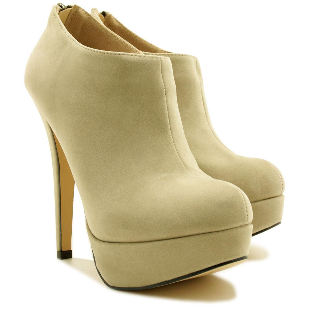 neu damen stiefeletten ankle boots stiletto absatz gr 36. Black Bedroom Furniture Sets. Home Design Ideas