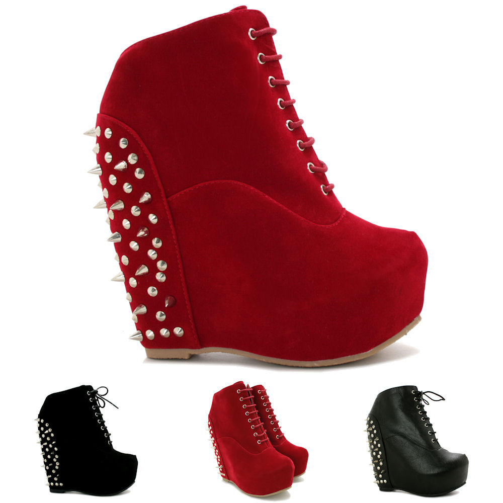 Wedge Heels With Spikes
