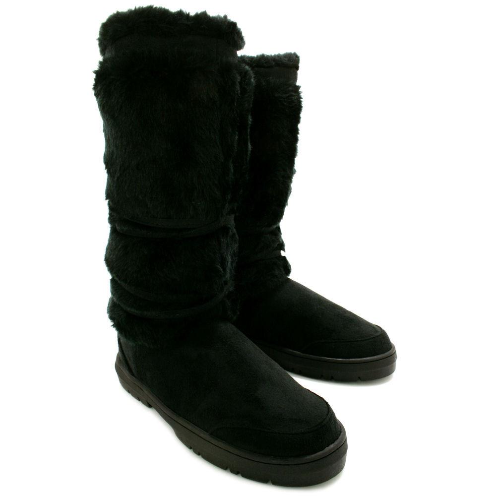 new womens flat fur winter ella boots thick waterproof