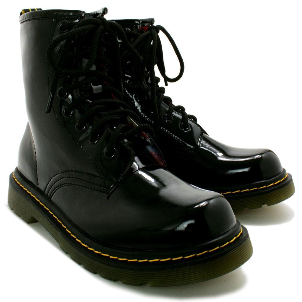 neu damen stiefeletten ankle boots schuhe flach schn r gr 36 41 ebay. Black Bedroom Furniture Sets. Home Design Ideas