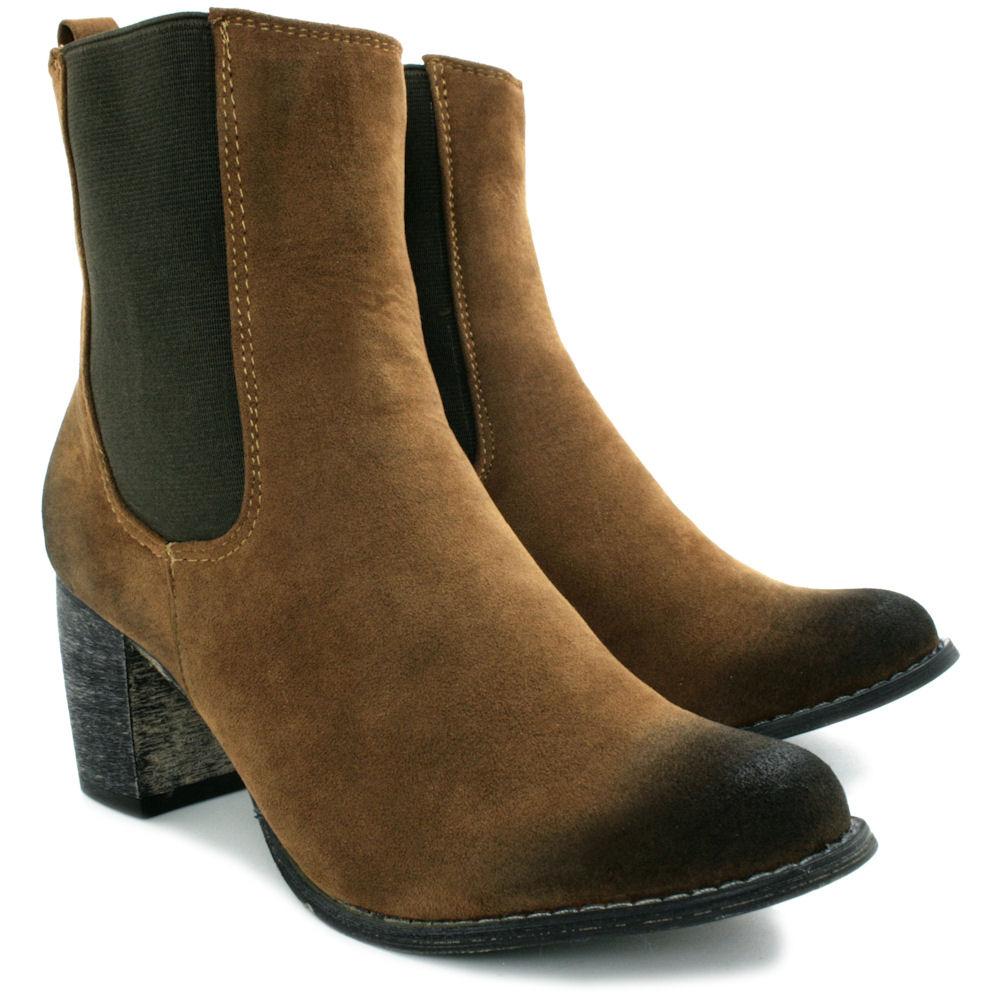 neu damen stiefeletten ankle boots schuhe blockabsatz gr. Black Bedroom Furniture Sets. Home Design Ideas