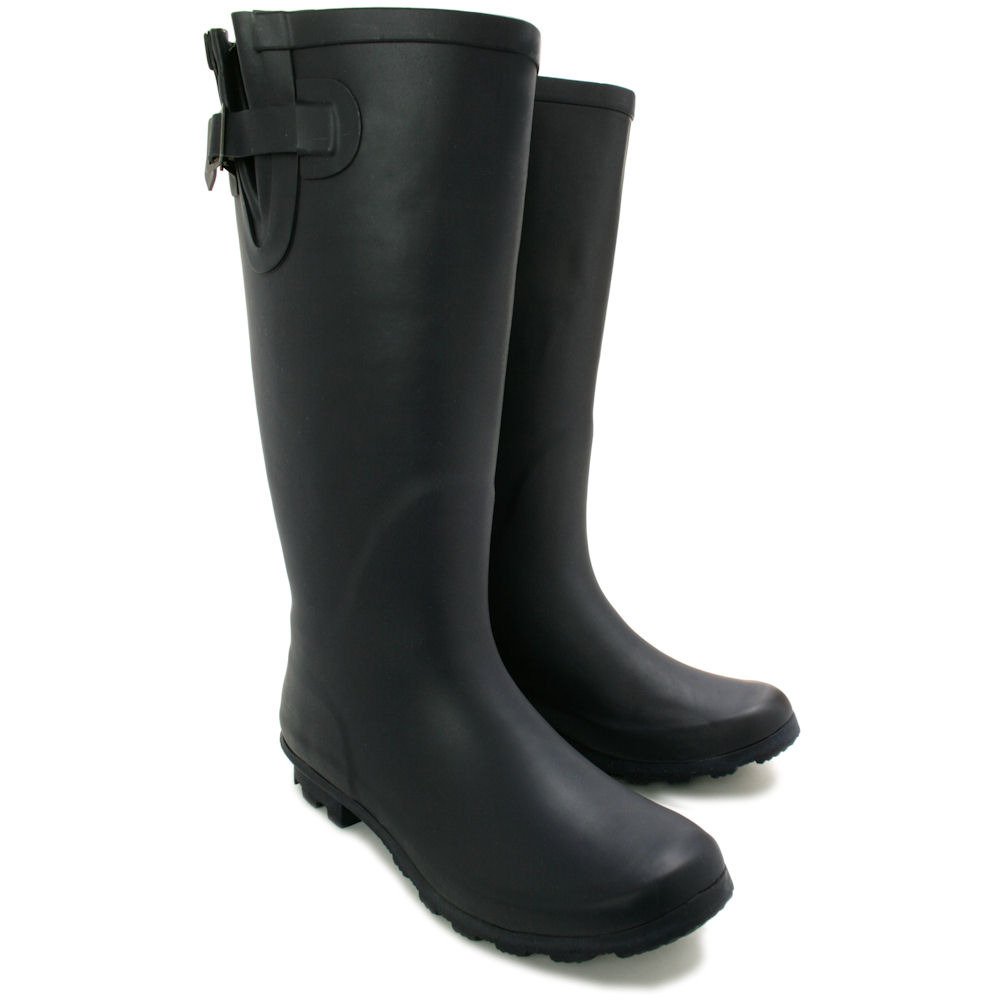 Model WOMENS LADIES FUNKY FESTIVAL EXTRA WIDE CALF WELLIES WELLINGTON BOOTS