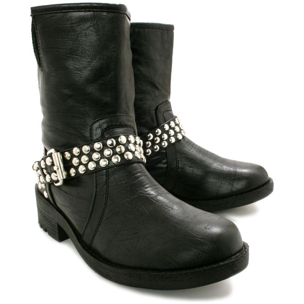 Popular Rema3BlackPUAnkleBootsCheapWomensShoes01jpg