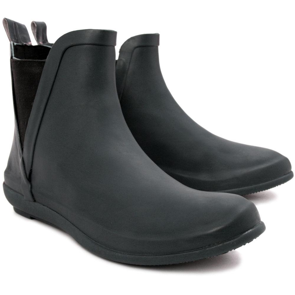 NEW WOMENS FLAT WELLINGTON CHELSEA ANKLE RAIN BOOTS SIZE | eBay