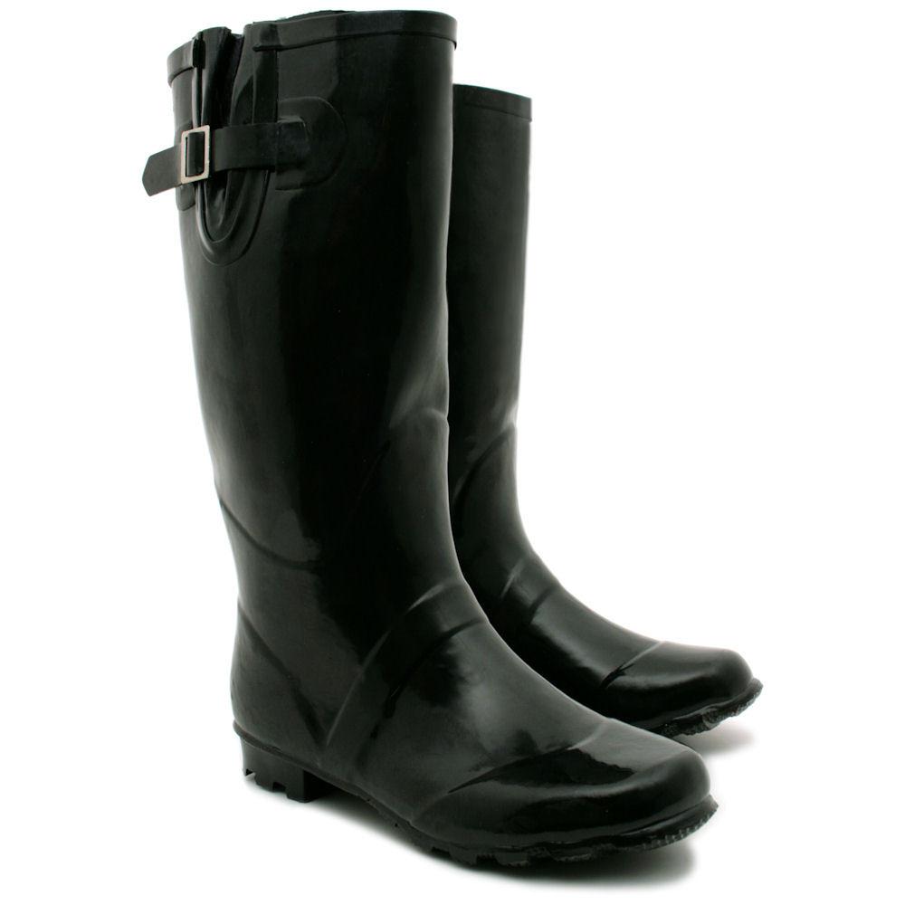 NEW WOMENS FLAT WELLY WELLINGTONS KNEE HIGH RAIN BOOTS SIZE | eBay