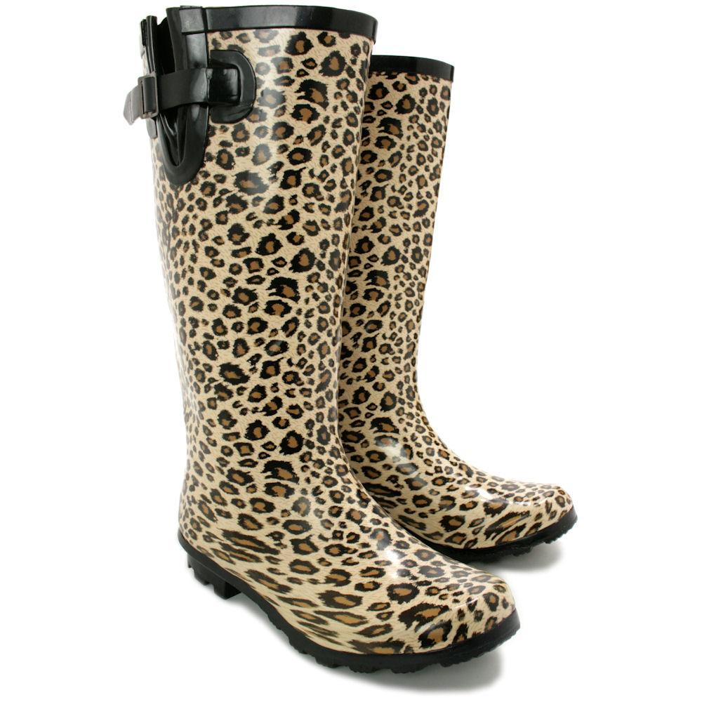Innovative WomensHighHeelWelliesWaterproofWellingtonBootsSnowRainShoes