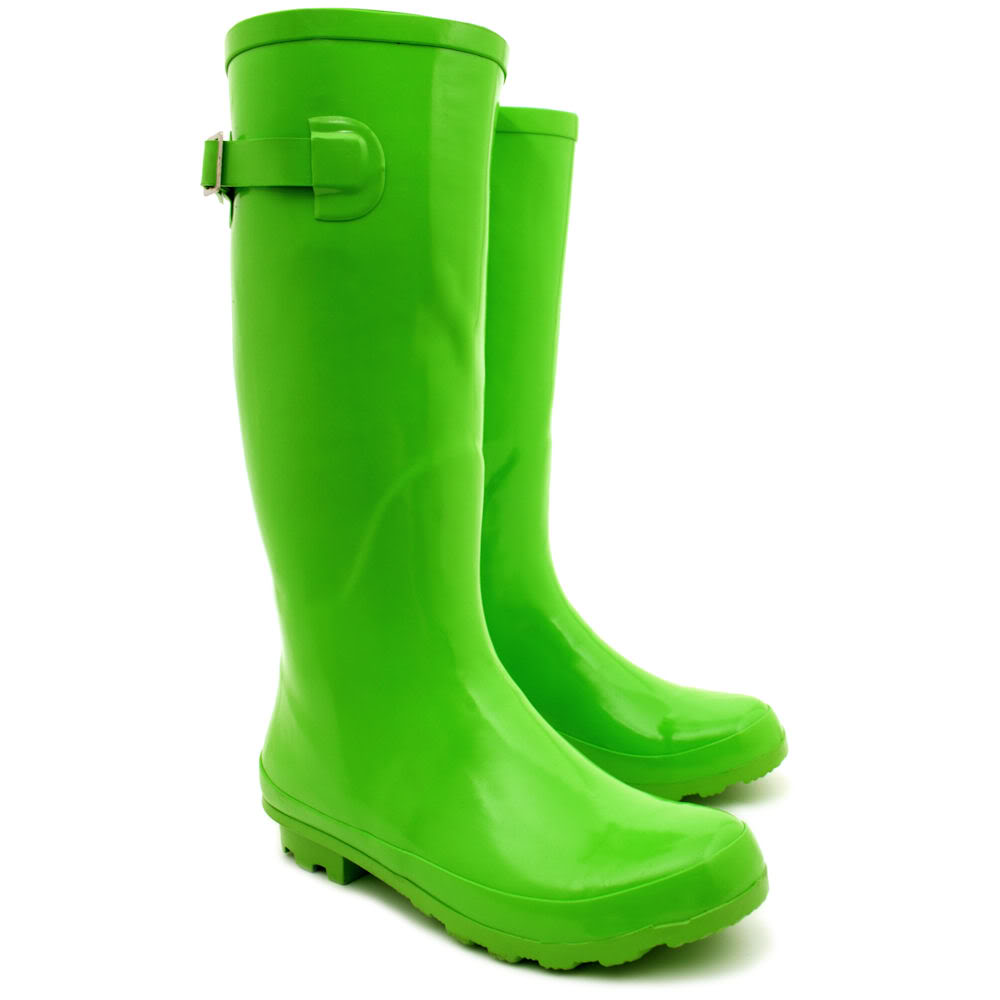 NEW WOMENS FLAT WELLY WELLINGTONS KNEE HIGH RAIN BOOTS SIZE | eBay