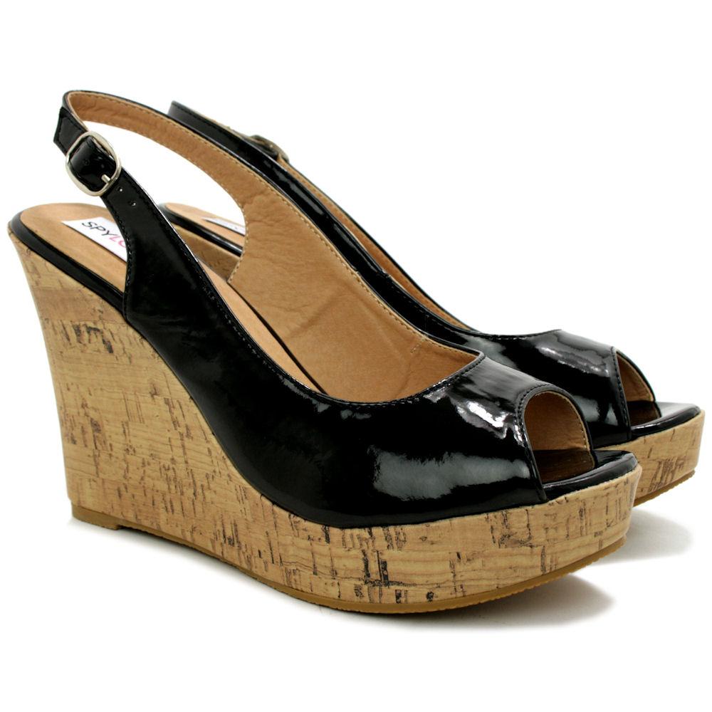 Womens Slingback Peep Toe Shoes Size