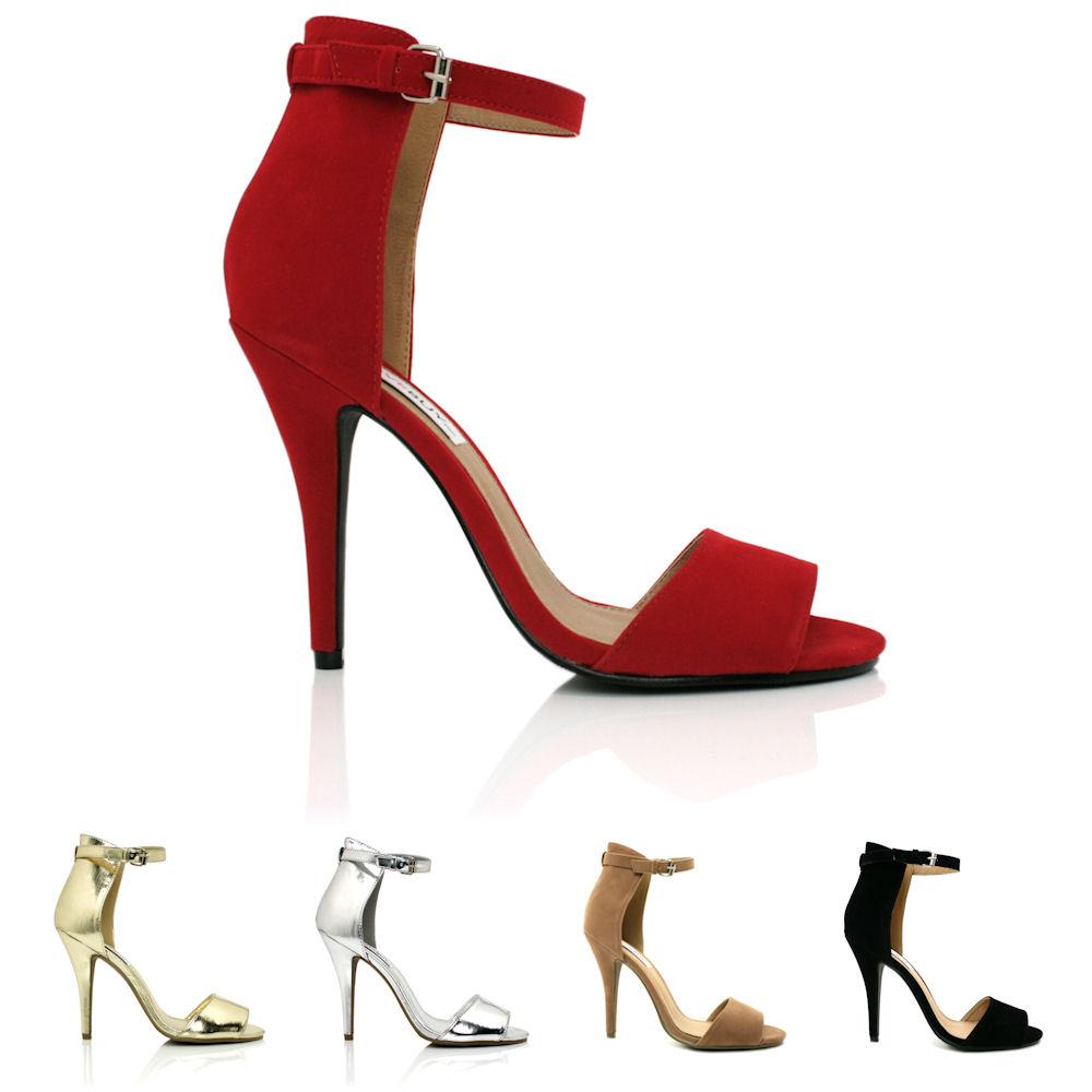 NEW-WOMENS-STILETTO-HEEL-PEEP-TOE-BUCKLE-SANDAL-SHOES-SIZE