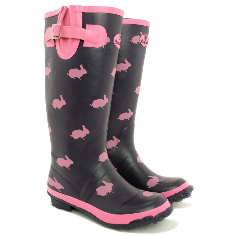 Cool Rain Boots Women Size S Rubber 9 Snow Wellies Womens New Flat