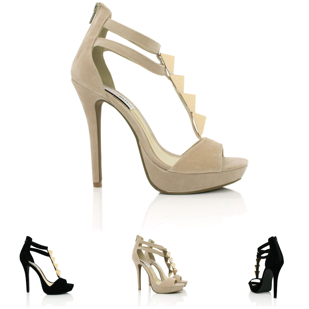 neu damen pumps high heel schuhe stiletto absatz plateau offene spitze gr 36 41 ebay. Black Bedroom Furniture Sets. Home Design Ideas