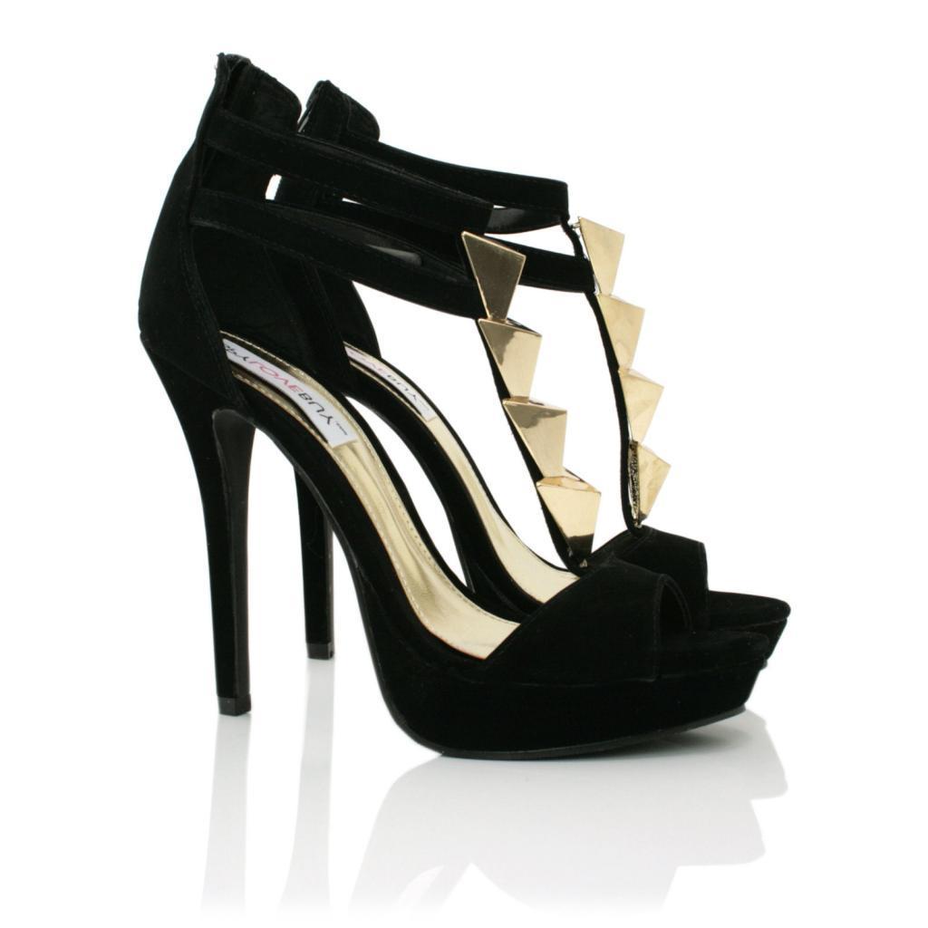 Black Heels Peep Toe