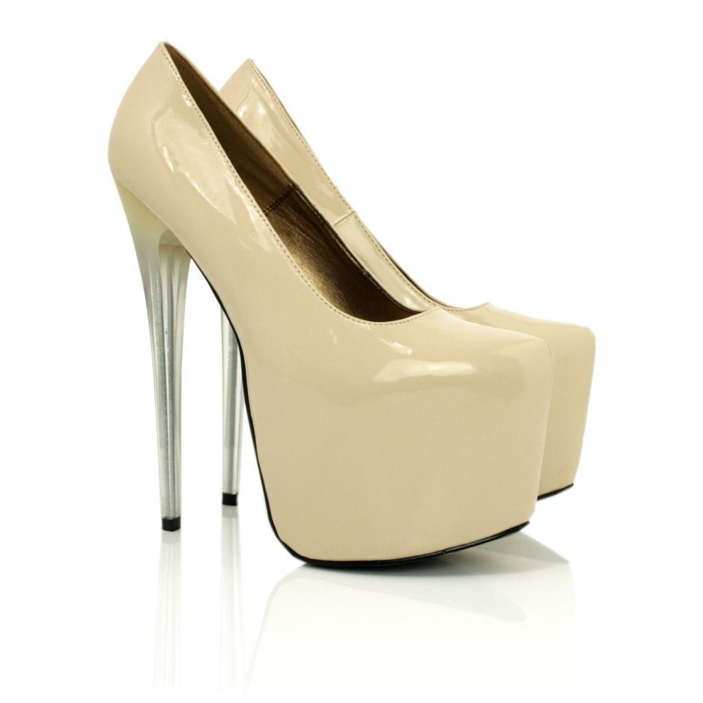 new womens perspex stiletto heel concealed platform court