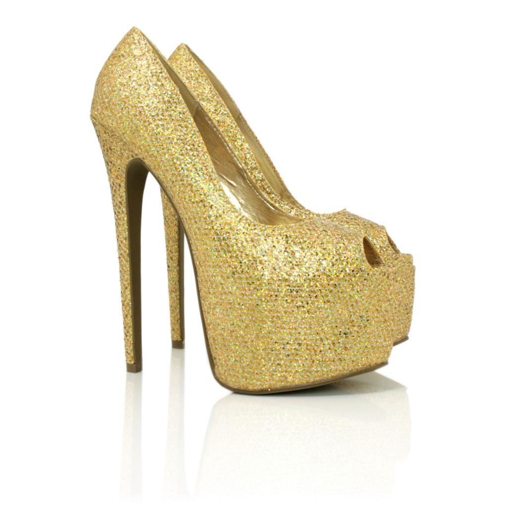 Gold Stiletto Heels - Is Heel