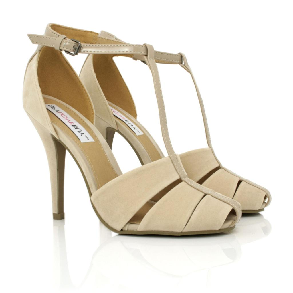 NEW WOMENS STILETTO HEEL T BAR ANKLE STRAP SHOES SIZE | eBay
