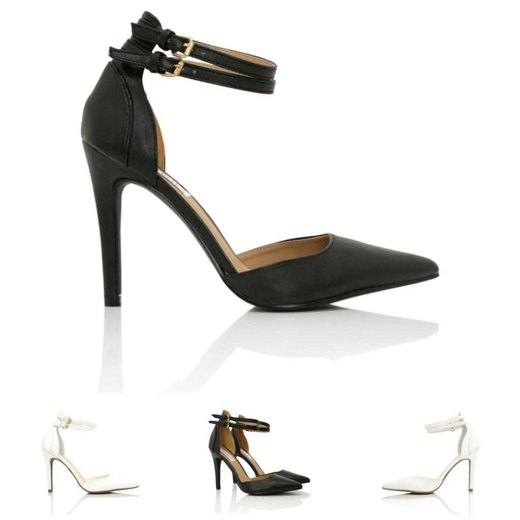 Leather Ankle Strap Heels - Is Heel