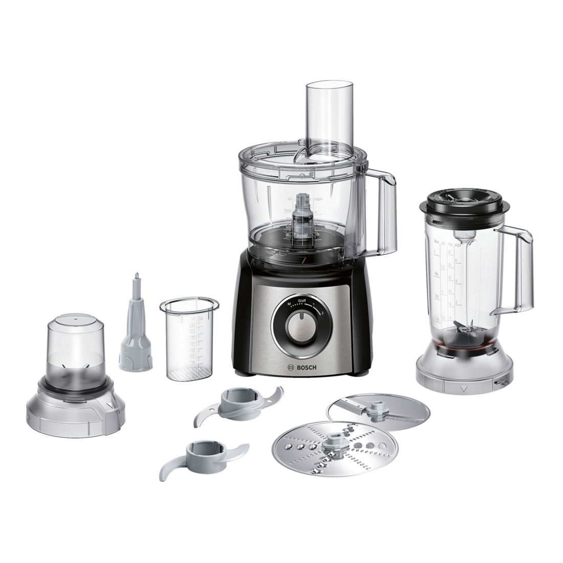 bosch mcm3501mgb food processor with 800w motor and attachments stainless steel ebay. Black Bedroom Furniture Sets. Home Design Ideas