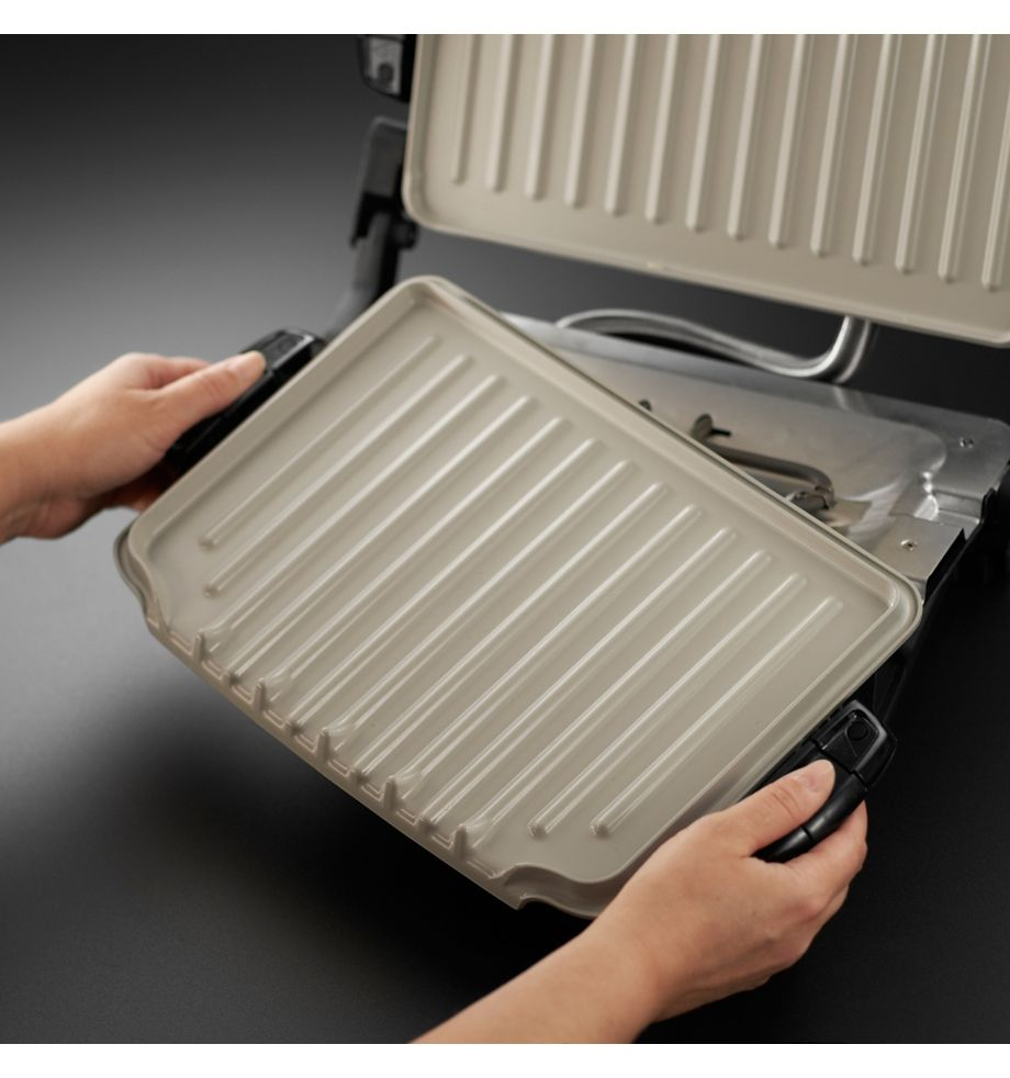George foreman 21610 evolve family health grill 5 portion ebay - Health grill with removable plates ...