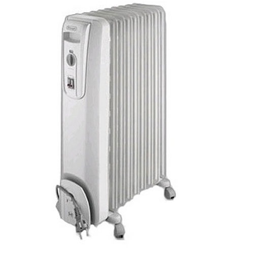 *WOW* Stylish DeLonghi HOR KH770715 Portable Oil Filled Radiator 1.5kW White Enlarged Preview