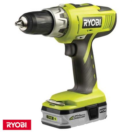 ryobi llcdi18022 one 18v cordless combi hammer drill 2. Black Bedroom Furniture Sets. Home Design Ideas